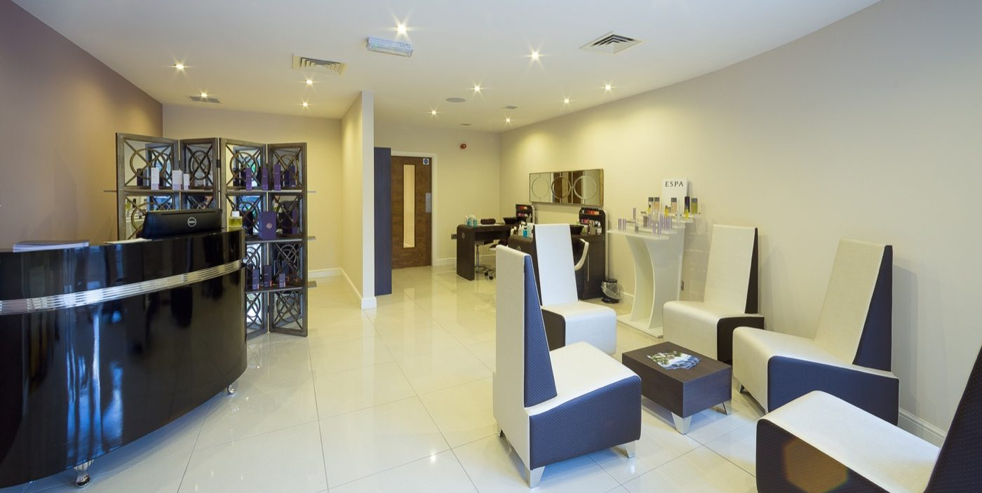 Leisure renovation - Waterton Park Spa Reception West Yorkshire